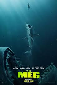 THE MEG – MORE LIKE THE MEH – FORGETABLE POPCORN FLICK – JAWS STILL REIGNS!!!